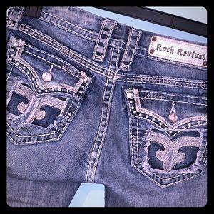 Rock Revival jeans Straight leg. Size 28